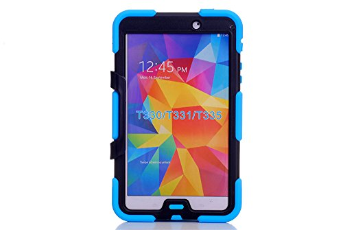 Galaxy Tab 4 8.0 Inch T330 Tablet Case, Vogue Shop Heavy Duty rugged impact Hybrid Case Ultra Tough Kickstand Shock Proof Case Cover For Samsung Galaxy Tab 4 8.0 inch T330 /T331/ T335 (2014 Released) (Sky blue)