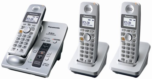 Panasonic KX-TG6053S 5.8 GHz FHSS Expandable Digital Cordless Phone System with 3 Handsets