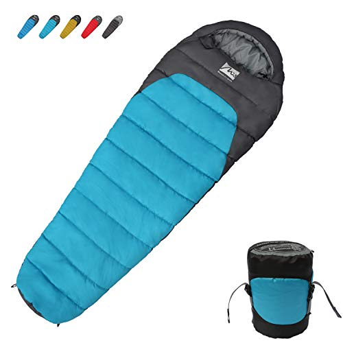Mummy Sleeping Bag 3 Season Lightweight Waterproof Camping Sleep Bag with Compression Sack Mummy Bag Mountain Camping Gear for Hiking Backpacking Mountaineering