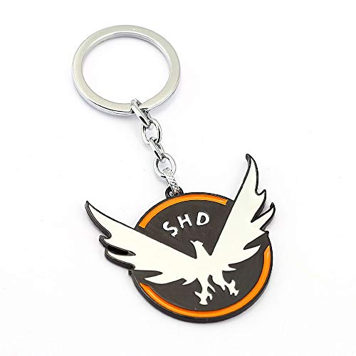 The Division Keychain Tom Clancy Dog Tag Key Rings Holder Gift Chaveiro Car Key Chain Game Jewelry Souvenir