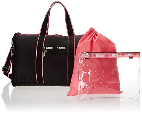 LeSportsac Gym Duffle Bag, Black Fit, One Size