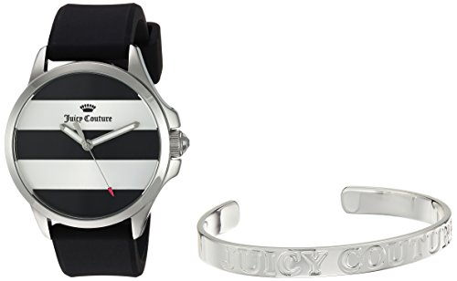 [Juicy Couture Women's Quartz Stainless Steel and Silicone Casual Watch, Color:Black (Model: 1950011)] (Movado Bangle Watch)