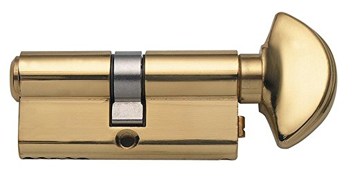 Rockwell 360 degree Solid Brass Euro profile Cylinder in Brass Finish for 1-3/4