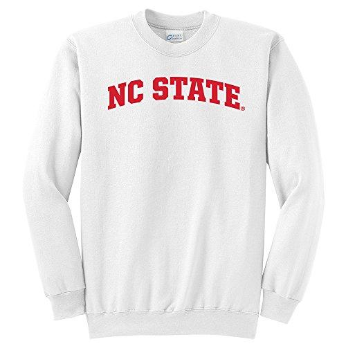 Nc State Wolfpack Classic Shirt (NCAA North Carolina State Wolfpack Arch Classic Crewneck Sweatshirt, Large, White)