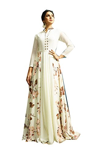Da Facioun Readymade Indian Women Designer Partywear Ethnic Traditonal Dress. Da Facioun Design Ready-made Femmes Indien Partywear Ethnique Robe Traditionelles. Cream 5 Crème 5