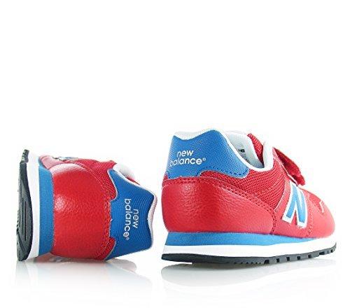 New Balance 500 Scarpe Bambino Ragazzo KV500RBY Sneaker Pelle Rosso Blu