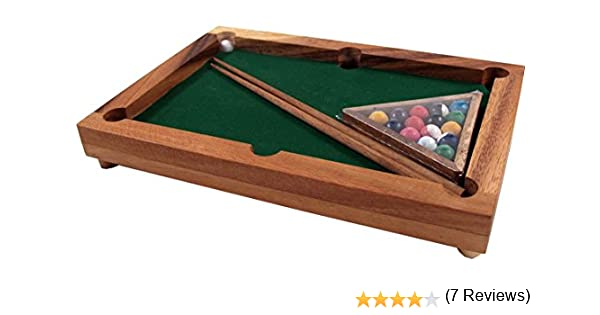 Guru-Shop Juego de Mesa, Juego de Salón de Madera - Billar, Brown, 4x27x19 cm, Juegos de Mesa Juegos de Habilidad: Amazon.es: Hogar