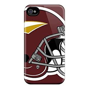 Scratch Protection Cell-phone Hard Cover For Iphone 4/4s (wgh2781TGJF) Customized Lifelike Washington Redskins Image
