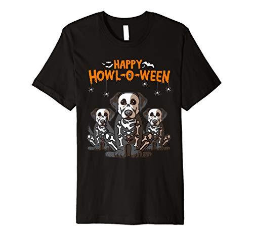 Happy Halloween Labrador Retriever Skeleton Costume Tee ()