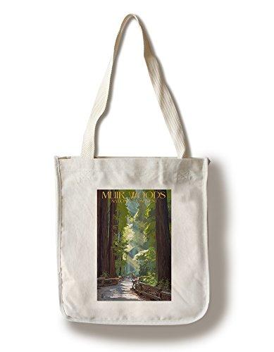 (Lantern Press Muir Woods National Monument, California - Pathway (100% Cotton Tote Bag - Reusable))