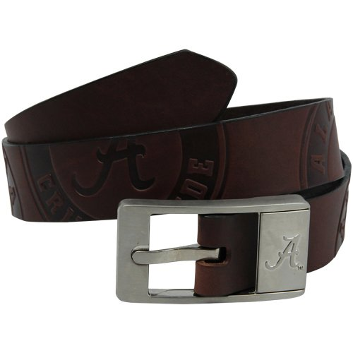 NCAA Alabama Crimson Tide Brandish Leather Belt - Brown (42) ()