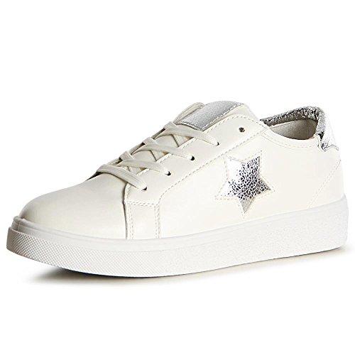 Argent Topschuhe24 De Chaussures Femmes Sport Sneaker qFSw1aRp