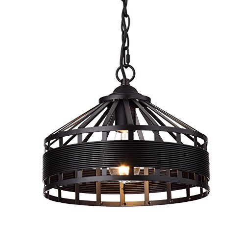 YOBO Lighting Rustic Vintage Barn Metal Hanging Chandelier with Chain, Oil Rubbed Bronze Pendant Light For Sale