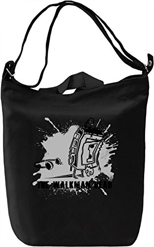 The Walkman Dead Borsa Giornaliera Canvas Canvas Day Bag| 100% Premium Cotton Canvas| DTG Printing|