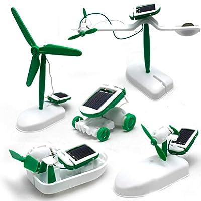 NOENNULL 6 in 1 Creative DIY Education Learning Power Solar Robot Kit Children Toys Gift Self-Assembled Solar Science Kit: Sports & Outdoors