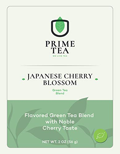 """GREEN TEA - 2 Ounce ≈ 30 Servings - Delicious Vegan All Natural Flavors Non-GMO Loose Leaf Tea - Hot or Iced - Green Tea Blends-""""6o9 Pool"""" - (Japanese Cherry Blossom, 2oz)"""