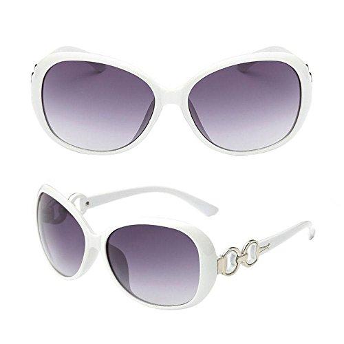 Redondos del los Vidrios Conducción Sol las Aolvo de Verano Gafas Marco Vendimia del Gafas Sol de de de para Blanco Ciclo Mujeres Metálico de de la ZaZq6pR