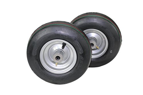 (Set of 2) Hustler Pneumatic Tire Assemblies 11x4.00-5 Fits Raptor and Sport 605133 (Parts Hustler Lawn Mower)