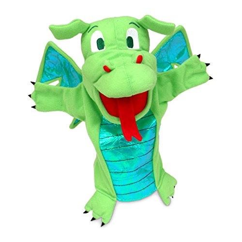 Fiesta Crafts - T-2186 - Marionnettes À Main - Le Dragon - Vert
