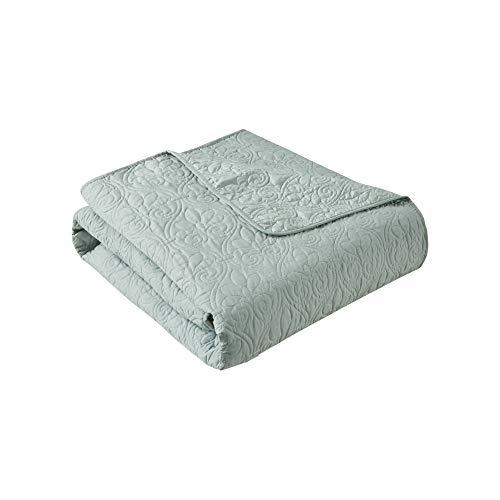 Madison Park Quebec - Manta de Microfibra Acolchada de Gran tamaño, 60 x 70 cm, Suave y acogedora con Relleno de algodón para Cama, Entrenador o sofá