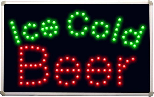 led152 Ice Cold Beer Bar LED Neon Light (Ice Led Sign)