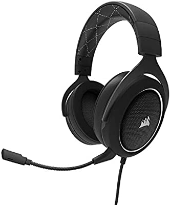 Corsair HS60 Surround Stereo Gaming Headset with 7 1 Surround Sound  (PC/PS4/Xbox) - White