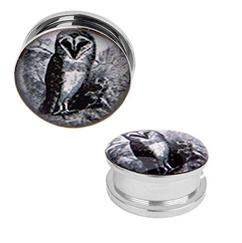 00 gauges plugs owl - 3