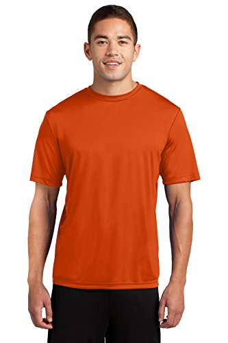 - Dri-Tek Mens Big & Tall Short Sleeve Moisture Wicking Athletic T-Shirt, 4XLT, Deep Orange