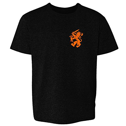 Dutch Soccer Retro National Team Halloween Costume Black 3T Toddler Kids T-Shirt