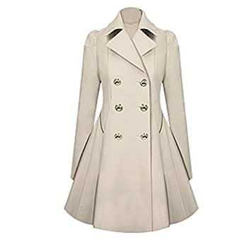 Amazon.com: POTO Women Coats Women's Lapel Double Breasted