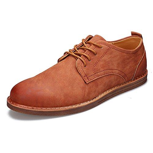Printemps Homme Business Derby Bout Rond Chaussure à Lacet Mode Derby Brun WxlTwwYp