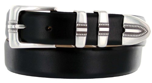 Kaymen Italian Calfskin Leather Designer Dress Golf Belts for Men 1-1/8
