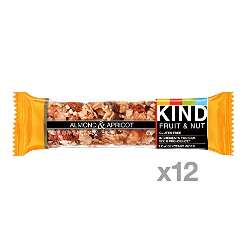KIND Bars, Almond & Apricot, Gluten Free, Low Sugar, 1.4oz, 12 Count by KIND (Image #1)
