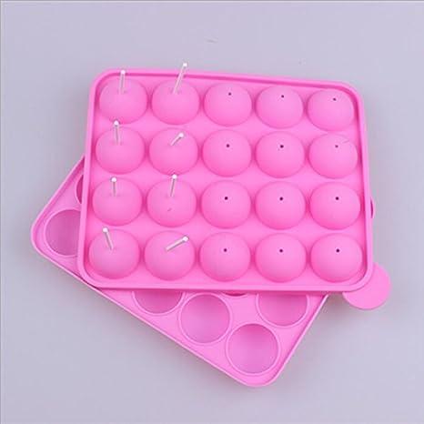vyage (TM) 20 agujeros silicona molde silicona piruletas molde Cake Mold Baking Chocolate Hielo rejilla para horno molde: Amazon.es: Deportes y aire libre