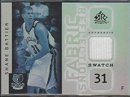 d417de2f2b97 2005 Reflections Shane Battier Grizzlies Game Used Jersey Basketball Card   FR-SB