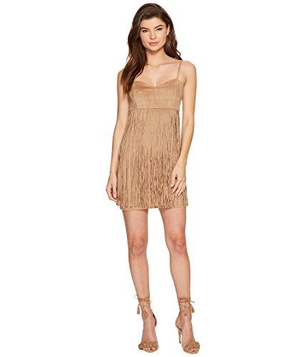 Costumes Houston Tx (Jack by BB Dakota Women's Rowlands Soft Faux Suede Fringe Dress, Light Camel,)