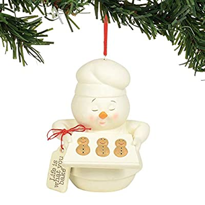 """Department 56 Snowpinions Life is What You Bake it Hanging Ornament 3.5"""" Multicolor"""
