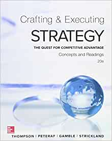 thompson jr arthur a strickland iii a j gamble john e crafting and executing strategy 17th edition c Arthur a thompson, alonzo j strickland, john e gamble no preview available - 2011 about the author (2011) aj (lonnie) strickland received a bs in math and physics from the university of georgia, an ms in industrial management from georgia institute of technology, and a phd from georgia state university.