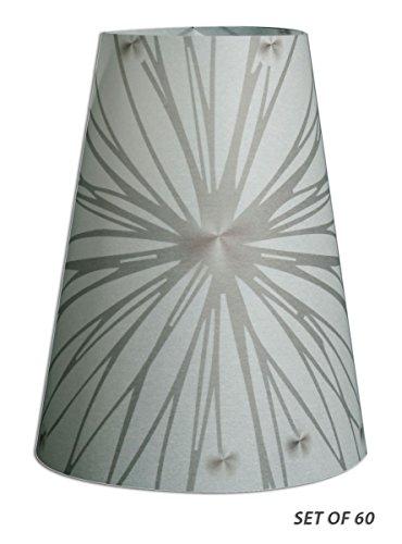 Royal Designs Star Burst Silhouette Vellum Paper Wine Glass Tea Light Lampshade- Party Centerpiece- Set of 60 - - Stars Vellum