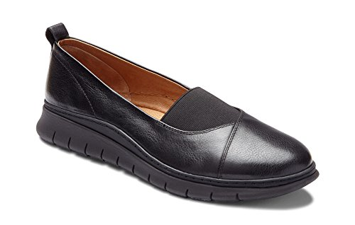 Vionic Women's Linden Slip-on - Ladies Walking Loafer with Concealed Orthotic Support Black 9.5 M US