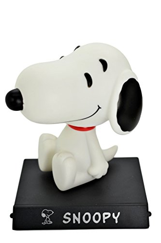 Peanuts Snoopy PVC Bobblehead Figure Car Accessories Dashboard Cell Phone/Credit Card Holder Office Home Ultra Detail Doll .