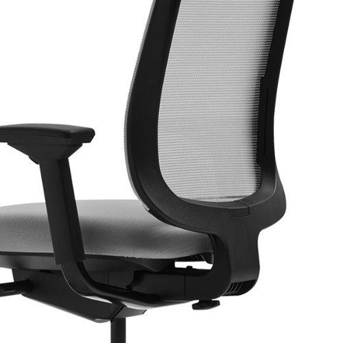amazon com steelcase black mesh back reply chair with black fabric