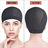 3 PACK Wig Caps for Wig Making - Stretchable Dome