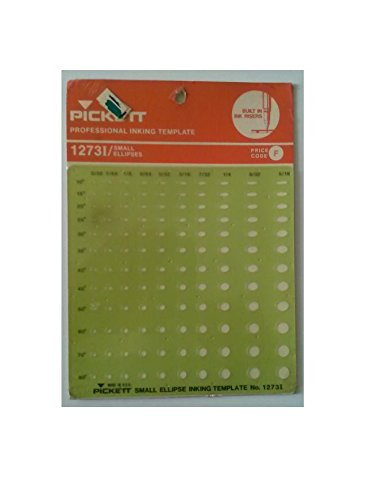 Pickett 1273I Professional Inking Template Small Ellipses