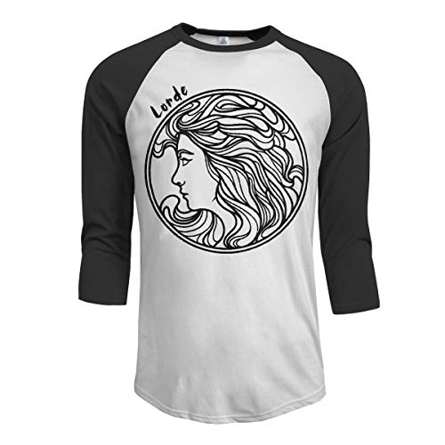 JeremiahR Lorde Men's 3/4 Sleeve Raglan Baseball T Shirt Black M for $<!--$15.87-->