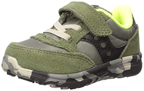 Saucony Boys' Baby Jazz Lite Sneaker, Olive, 9 W US Toddler