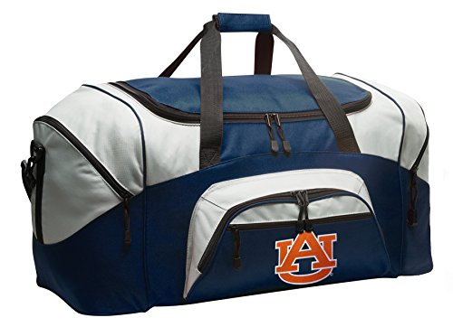 Large Auburn Duffel Bag Auburn University Gym Bags or Luggage by Broad Bay