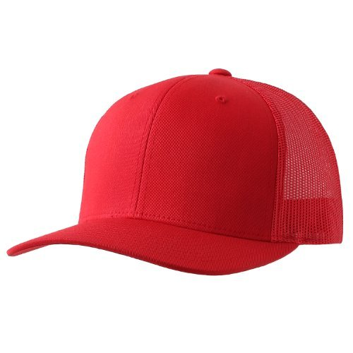 (Yupoong Retro Trucker Hat & 2-Tone Snapback - 6606, (Red))