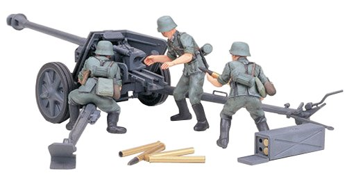 Tamiya Models German 75mm Pak 40/L46 ATG Model (German Anti Tank Weapon)