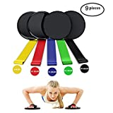 Gliding Discs Core Sliders and Exercise Resistance Loop Bands Home & Personal Fitness Equipment